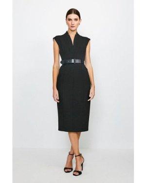 Karen Millen Forever Cap Sleeve Dress -, Black