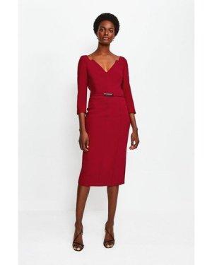 Karen Millen Forever Bar Belt Dress -, Red