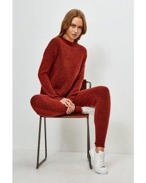 Karen Millen Super Soft And Cosy Cuff Joggers -, Orange