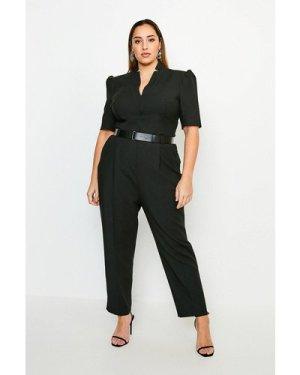 Karen Millen Curve Forever Jumpsuit -, Black