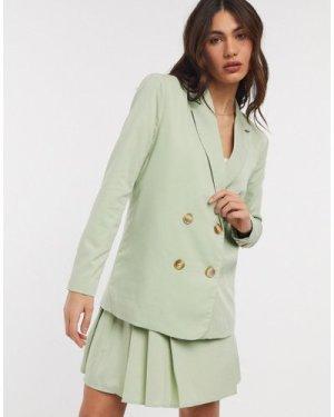 Fashion Union dad blazer co-ord-Green