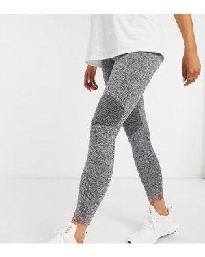 Mamalicious Maternity sports leggings in grey