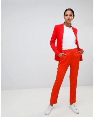 Liquorish slim leg trousers-Red