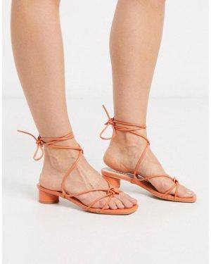 RAID Isobel heeled strappy sandals in coral-Orange