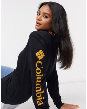 Columbia North Cascades long sleeve t-shirt in black/gold