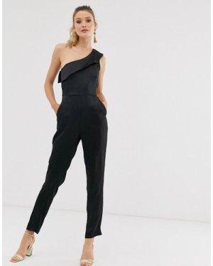 Closet one shoulder jumpsuit-Black