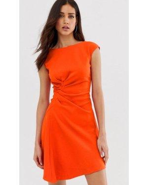 Closet asymmetric front dress-Orange