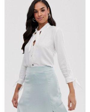 Closet tie neck blouse-White