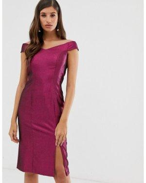 Closet off the shoulder dress-Pink