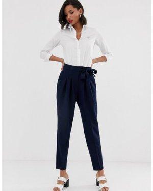 Closet high waist tailored trousers-Navy