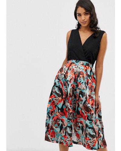 Closet 2 in 1 full skirt dress-Red