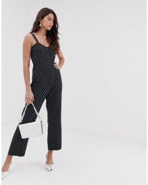 Closet fitted strap jumpsuit-Black