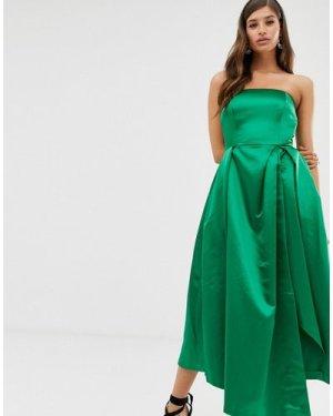 Closet strapless dress-Green