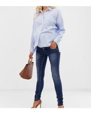 Mamalicious skinny jeans-Navy