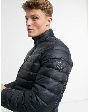 Abercrombie & Fitch lightweight mock neck puffer jacket in black