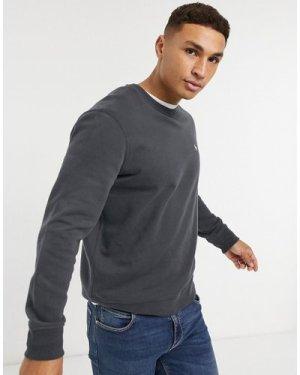 Abercrombie & Fitch icon logo crewneck sweatshirt in washed black