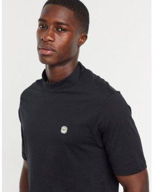 Le Breve longline turtle t-shirt in black