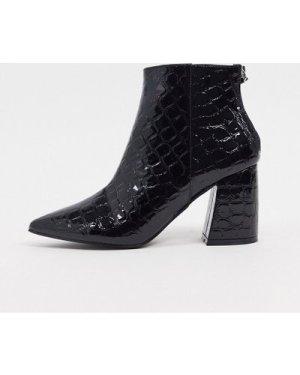 RAID Wynter heeled ankle boots in black croc