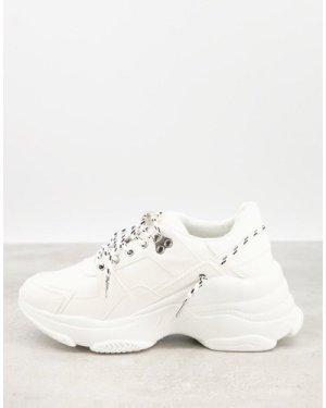 RAID Ibiza chunky trainers in white