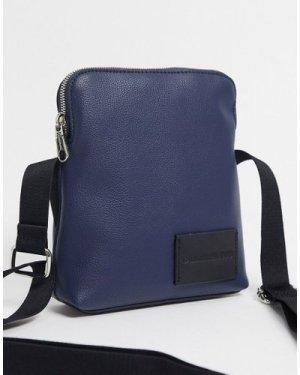 Calvin Klein Jeans micro pebble micro reporter bag-Navy