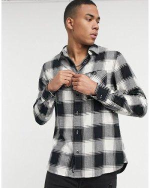 Calvin Klein Jeans grunge check shirt in black