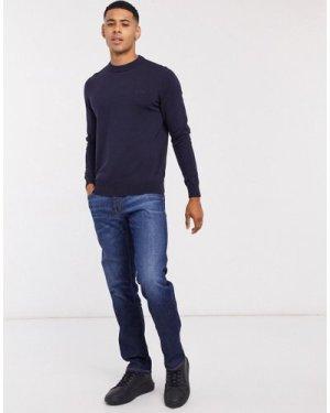 Calvin Klein Jeans straight fit jeans in dark blue