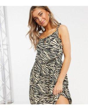 Wednesday's Girl mini cami dress in zebra print-Multi