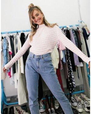 Wednesday's Girl shrunken jumper in stripe knit-Multi