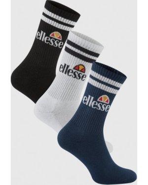 Pullo 3 Pack Socks Navy/White/Black