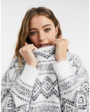 Wednesday's Girl jumper in diamond knit-Multi