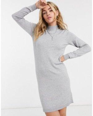 Object Thess knit mini jumper dress in grey