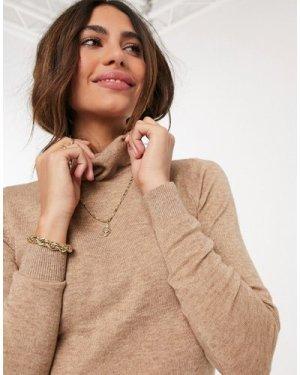 Object long sleeve roll neck in beige-Brown