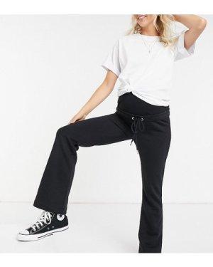Lindex MOM Rose brushed cotton lounge flare jogger in black