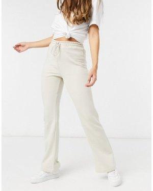 Lindex Rose brushed cotton lounge flare jogger in beige