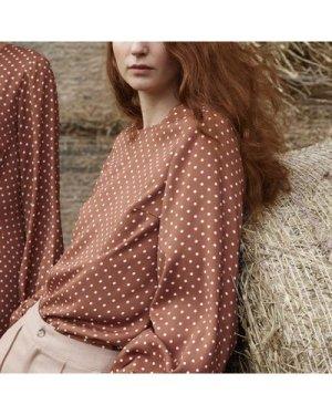 Whitley polka dot blouse