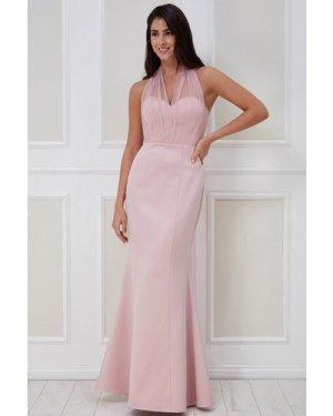 Goddiva Boobtube Multi-tie Maxi Dress - Blush