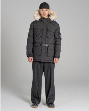 Bellfield Massif Fur Trim Mountain Mens Parka Jacket   Black, Extra Large