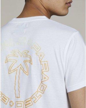 Bellfield Ladeem Mens T-Shirt   White, Large