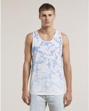 Bellfield Orvar Printed Mens Vest | Blue, Small