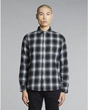 Bellfield Vallegrande Flannel Mens Shirt | Black, Small