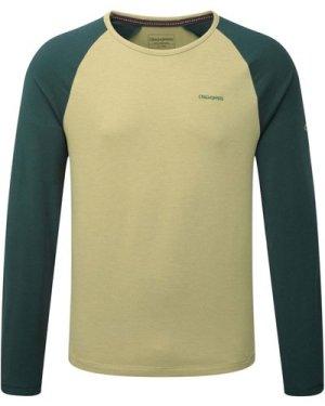 Maple Long Sleeved T-Shirt Light Olive Marl