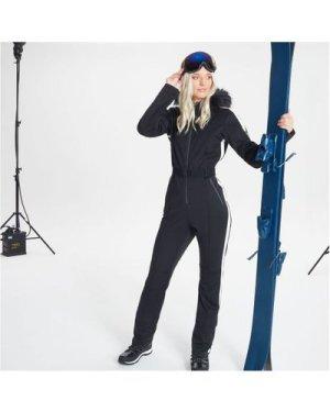 Dare 2b Swarovski Embellished - Women's Snowfall Waterproof Hooded Luxe Ski Suit - Black