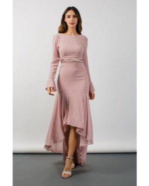 TFNC Valda Hi-Lo Pale Mauve Maxi Dress