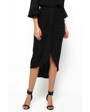 TFNC Nova Black Midi Skirt