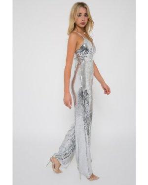 TFNC Rochelle Sequin Silver Jumpsuit