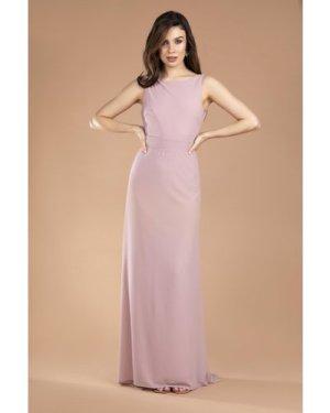 TFNC Halannah No Bow Pale Mauve Maxi Dress