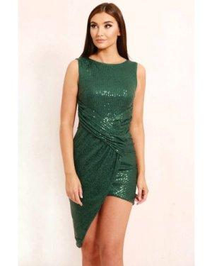 TFNC Riley Green Sequin Mini Dress