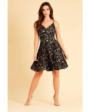 Skirt & Stiletto Valeria Black Lace and Sequin Mini Dress