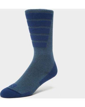 SALOMON SOCKS Women's Comfort Ski Socks, Blue/BLUE