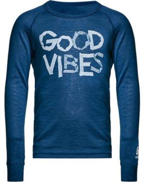 Odlo Odlo Kids' Active Warm Long Sleeve Baselayer Top, Blue/BLU